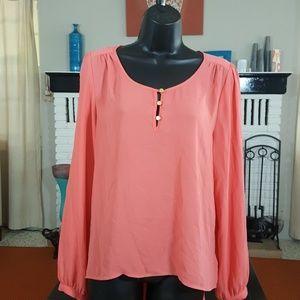 Salmon Forever 21 blouse